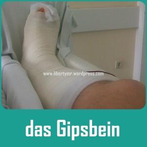 Gipsbein