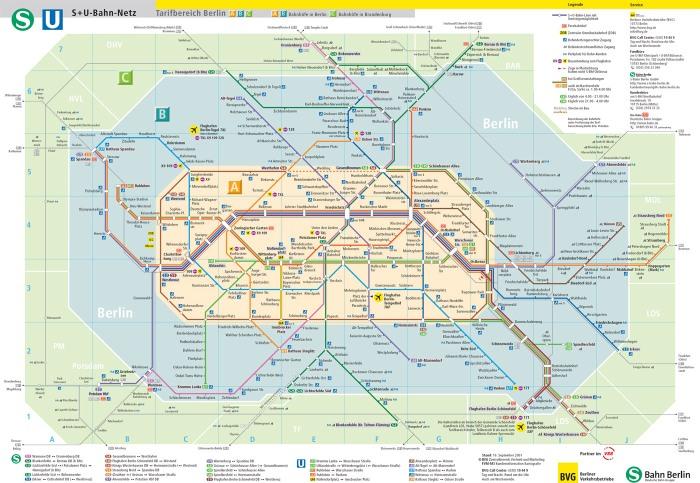 Peta angkutan umum di Berlin Jerman