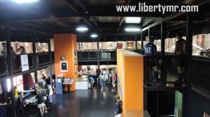 Suasana di dalam museum San Siro